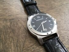 New Andover Mens Watch Black Leather Band