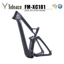 "29er 19"" Carbon Fiber Mountain Bike Frame Full Suspension 165*38mm Shock Frames"