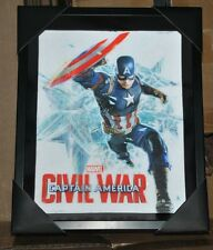 Captain America Civil War 3D HOLOGRAPHIC BLACK FRAMED SHADOW BOX / AVENGERS