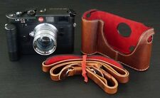 LUIGI's PREMIUM CASE X FILM LEICA M6,MP,M7 WITH MOTOR WINDER M, DELUXE STRAP+DHL