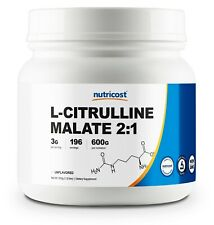 Pure L-Citrulline Malate (2:1) by Nutricost 600 Grams