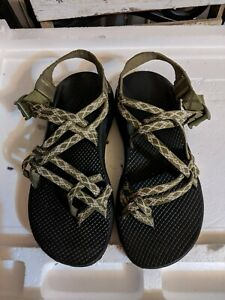Chaco ZX/2 Green & Brown Strappy Classic Sport Hiking Sandals Women's Size 9