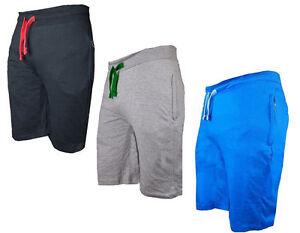 Men's New Plain Lightweight Summer Gym Baggy Shorts Zipped Pockets S - 5XL
