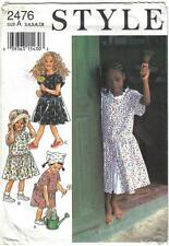 Style Pattern 2476 Girls' Dress and Coulotte Dress Sizes 3 - 8 Uncut