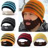 Unisexe Hiver  Crochet Barbe Beanie Moustache   Chaud Chapeau