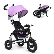 6-In-1 Kids Baby Stroller Tricycle Detachable Learning Toy Bike w/ Canopy Bag