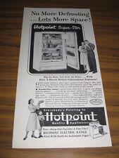 1953 Print Ad Hotpoint Super-Star Refrigerator Freezers Chicago,IL