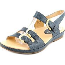 Calzado de mujer sandalias con tiras de tacón bajo (menos de 2,5 cm) de color principal azul