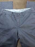 Eddie Bauer 10 Truly Straight Chino Pants Legend Wash Dark Gray Cotton
