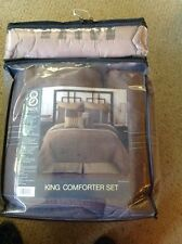 Target's King Comforter Set, Shades Of Brown.  8 Pieces