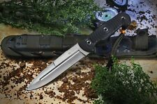 Kizlyar Supreme Legion D2 Satin Blade Outdoor Knife G10 Handle Quality Russian