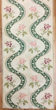 19th Century French Silk Jacquard Woven Floral Panel