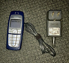 Nokia 6010 Cell Phone GSM Bar Style AT&T Cingular Blue + Charger + Good Battery