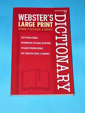 Webster's Dictionary Large Print School Home Office USA Printed Paperback New