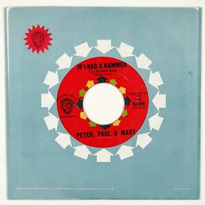 PETER, PAUL & MARY If I Had A Hammer 7IN 1962 FOLK NVG++