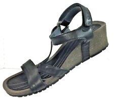 Teva Women's Black Platform Sandals Shoe Size 7.5M