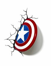 Marvel Avengers Captain America Shield 3D FX Deco LED Wall Light Nightlight