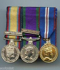 COURT MOUNTED GROUP OF 3 MINIATURE MEDALS. 1st Gulf Northern Ireland & Jubilee