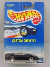 Hot Wheels 1991 Vintage Collector #200 Custom Corvette Purple Lace Wheels 2898