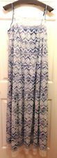 NWT Tanner Doncaster Long Blue & White Embroidered Sun Dress  6
