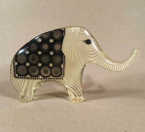 Vintage Abraham Palatnik Sgn PAL Lucite Acrylic Elephant Sculpture Brazil Op Art