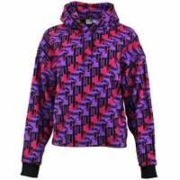 Puma XTG  All Over Print Hoodie  Casual   Hoodies & Sweatshirts Purple Womens -