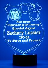 Police Badge Personalized FREE Light Up LED Light Night Light Police Officer