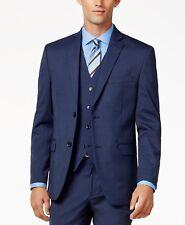$300 ALFANI Men's SLIM FIT BLUE 2 BUTTON BLAZER SUIT JACKET SPORT COAT 44 R