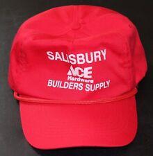Salisbury PA Ace Hardware Builders Supply  baseball hat cap trucker red