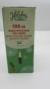 Holiday Living 100-Count 24.75-ft Warm White Mini LED Plug-In String Lights