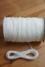4MM White Draw string Braided Cord x 10 meters