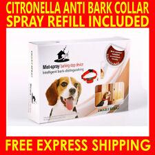 AUTOMATIC HUMANE CITRONELLA ANTI BARK TRAINING SPRAY DOG COLLAR STOP BARKING AU