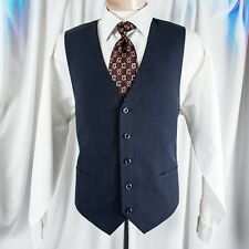 UNBRANDED  Navy Blue with Black Stripes Men Vest