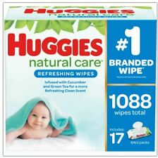 Huggies Natural Care Baby Wipe Refill, Cucumber and Green Tea (1,088 ct.)