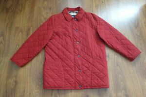 GREAT BURBERRY QUILTED JACKET RED, EXCELLENT CONDITION, SIZE XL
