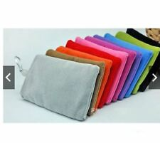 11*17cm Mobile Phone Velvet Cloth Sleeve Strap Gift Pouch Storage Random Color