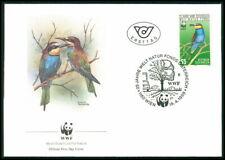 AUSTRIA FDC 1988 WWF VÖGEL BIENENFRESSER BIRDS BEE EATER KINGFISHER eq92