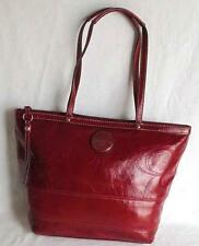 COACH SIS STITCHED LARGE RED PATENT LEATHER TOTE SHOULDER BAG F19210 EUC $328