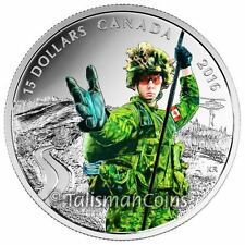 Canada 2016 National Heroes #4 Military Infantry Soldier $15 Pure Silver Proof