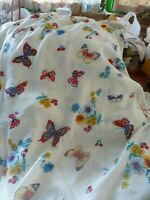 neuf vintage =tissus aux papillons tissage filet coloré ,rideaux coussins ,etc