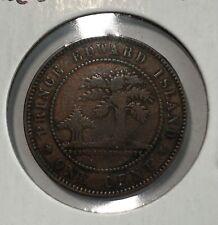 1871 Prince Edward Island PEI 1 Cent Coin Queen Victoria
