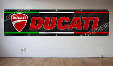 Ducati Banner Flag 2x8Ft Moto GP Motorcycle Flag Wall Decor Garage Shop