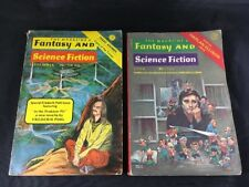 Magazine of Fantasy and Science Fiction Lot of 2 Harlan Ellison Isaac Asimov