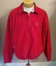 Tommy Hilfiger Red Golf Jacket XL Vintage 90s Full Zip Cotton Loop Button Collar