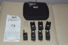 Delkim Txi Plus bite alarms, with receiver and Delkim case.