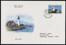Faroe Islands 130 on Addressed FDC - Nolsoy Lighthouse