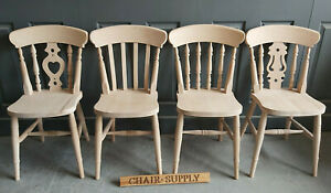 Brand New Solid Wood Country Style Famhouse Kitchen Dining Chair