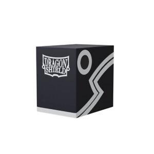 Black-Black Double Shell Deck Box Case Dragon Shield NEW