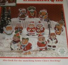 Dimensions Cat Counted Cross Stitch Santa Claws 12 Ornaments Kit 8468