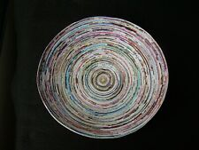 Amazing Art COILED PAPER BOWL Magazine Recycle 10 1/2 Inches